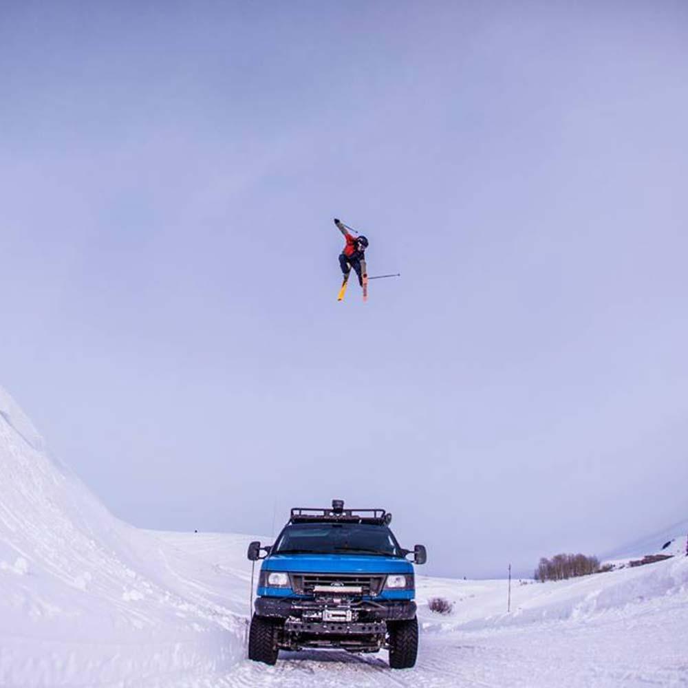 Ian Burson photography skiing road gap