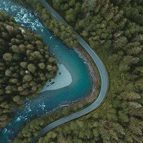 HB Mertz photography Arial river shot