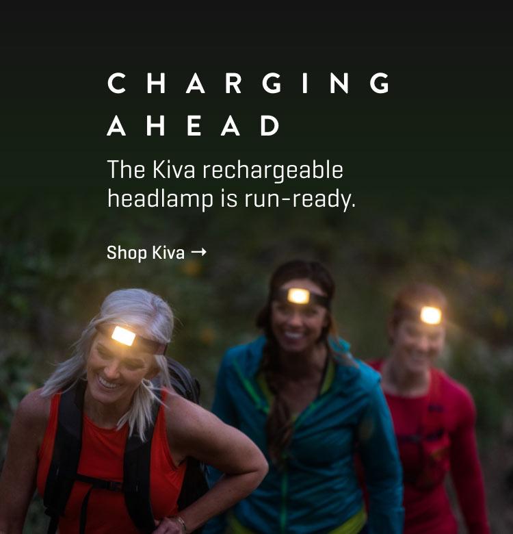 Kiva rechargeable headlamp